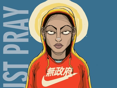 just pray it charachter design concept art comic illustration