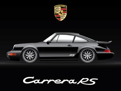 Black Porsche 911rs