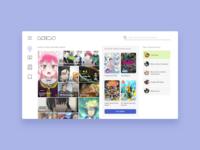 Animu - UI Concept 21 manga videos streaming japanese japan otaku minimalism anime web design website interface ui ux user interface interface designer design ui design interface design