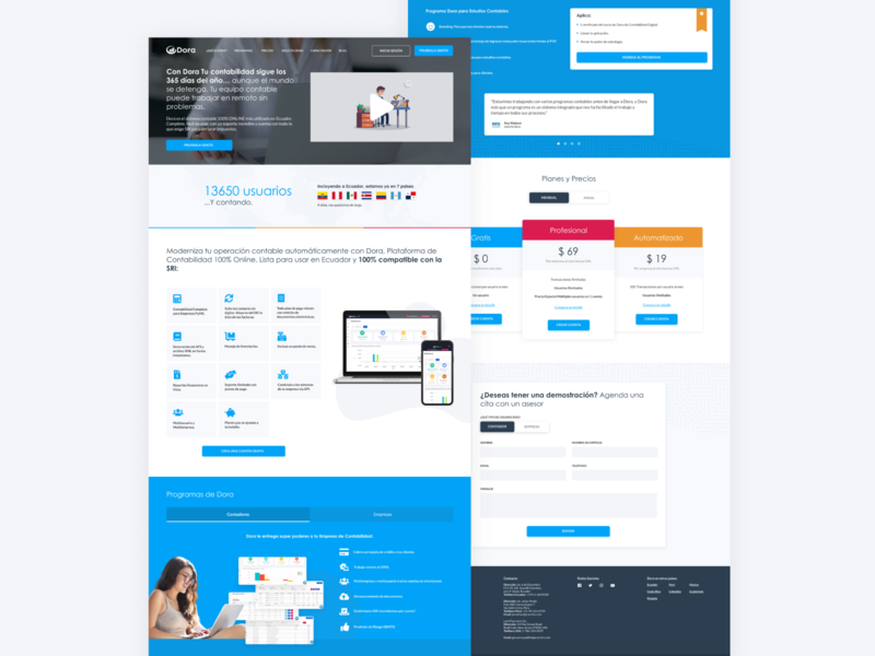Dora - Website Redesign responsive web design website interface ux ui user interface interface designer design ui design interface design