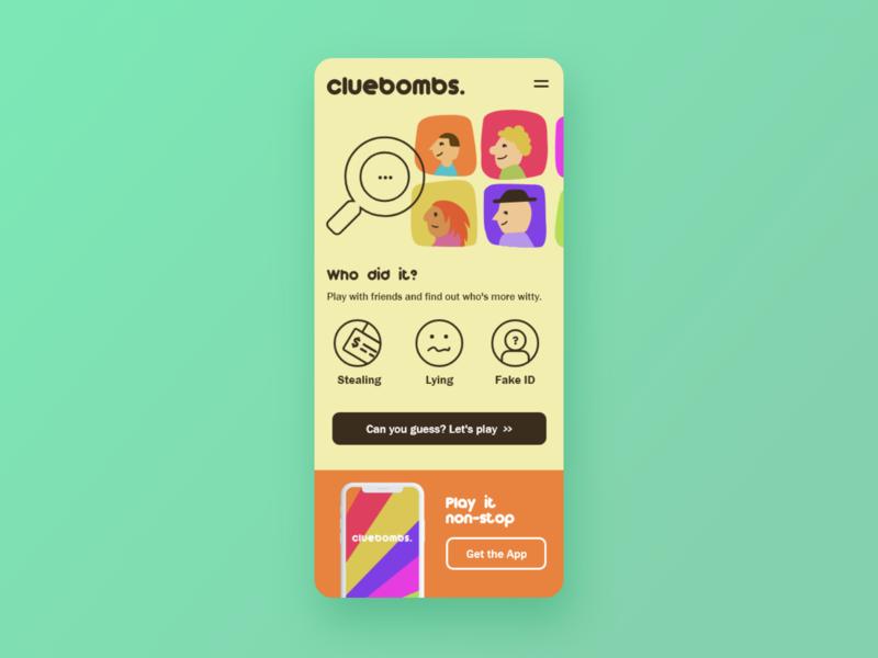 Cluebombs - UI Concept 08 mobile design user interface app ui app design app ux flat illustration doodle illustration mistery game interface designer design ui design interface design
