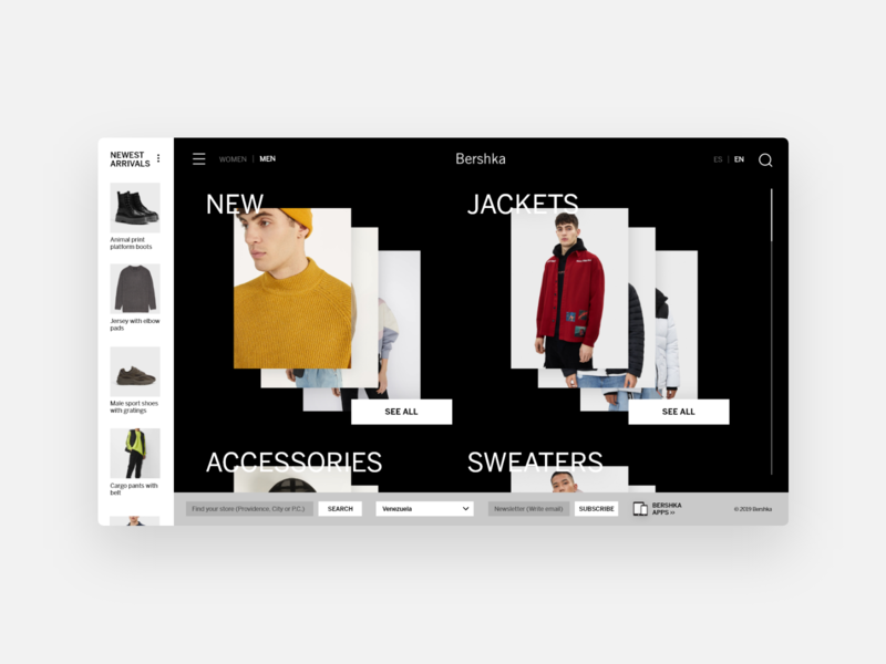 Bershka Redesign - UI Concept 09 minimalism minimal website web design fashion interface user interface ui ux interface designer design ui design interface design