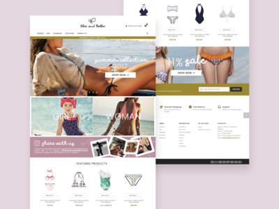 Elie and Bella - Ecommerce Swimsuit Shop
