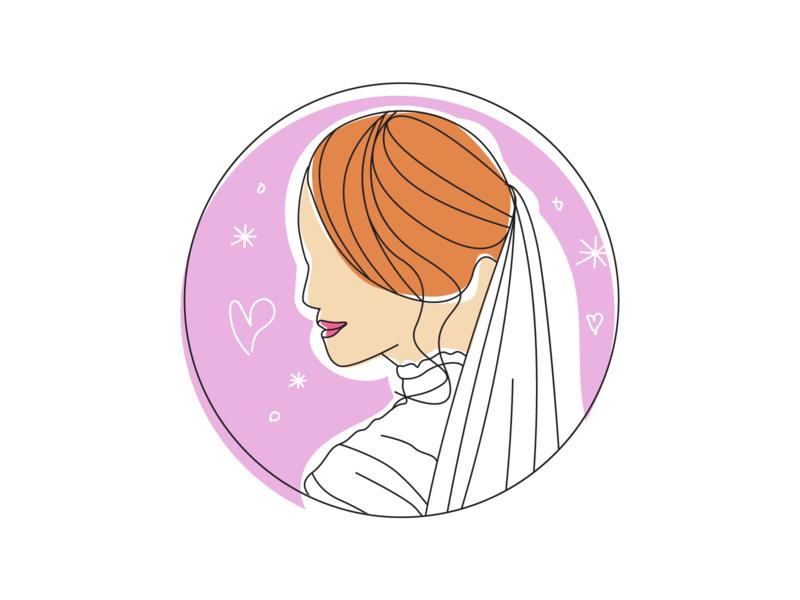 Atelier Fiora Illustration drawingart draw bridesmaid bride  groom wedding bride line art colorful colorful art coloring lineart sketching sketch illustration