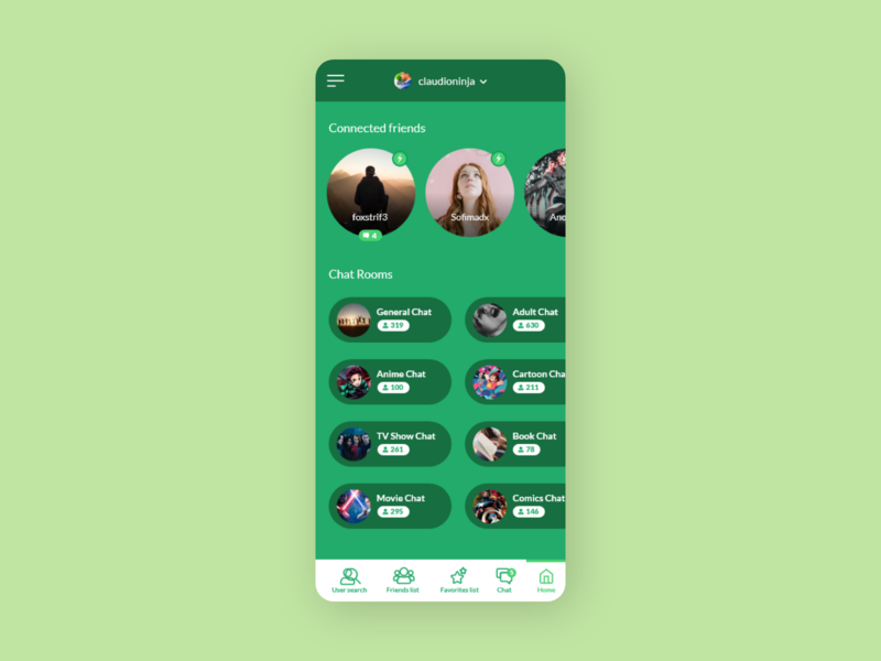 Chattier - UI Concept 16 chat room chatting chat app chat application ui app designer app design app interface ui ux user interface interface designer design ui design interface design