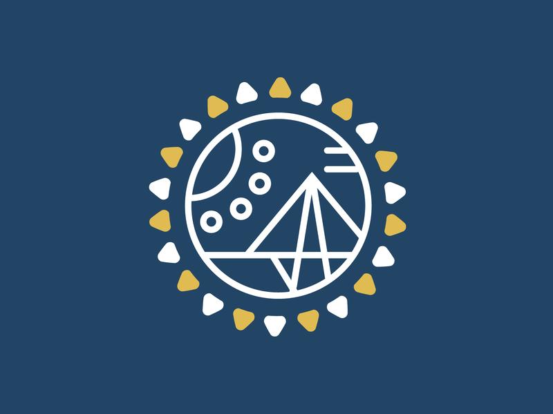 Maracaibo Vivaz (1/2) lineart flat design logo mark blue yellow sun lifestyle blog blog logo branding design branding logo design logo