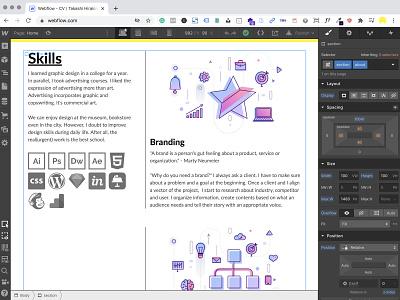 CV by Webflow | Takashi Hirakimoto webflow portfolio website design web design webdesign website web