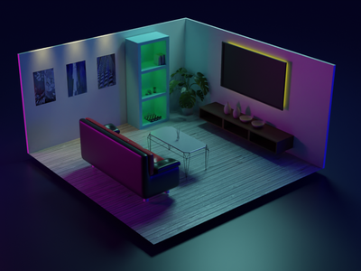 Room Scene cyberpunk sketch room scene vfx 3dartist 3dmodelling 3drendering render scenery room animation design illustration blender 3d 3d artist
