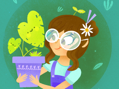 Girl plant's