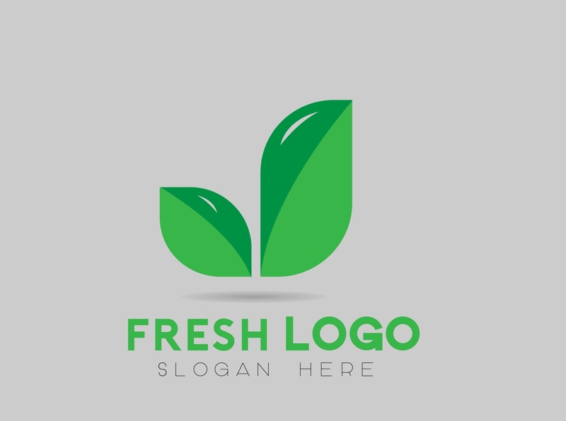 Fresh Logo paper illustration icon graphic design freelance fashion app logo flyer branding design