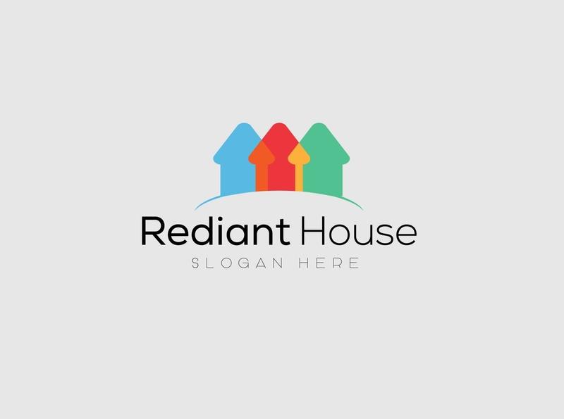 Rediant House Logo poster paper illustration icon graphic design freelance fashion app flyer branding design logotype logo design logodesign logo