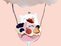 Munchkin in Strawberry Parfait