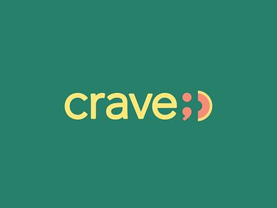 Crave Cantaloupe Logo smile branding logo cantaloupe melon