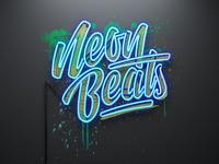 Neon Beats Logo & 3D