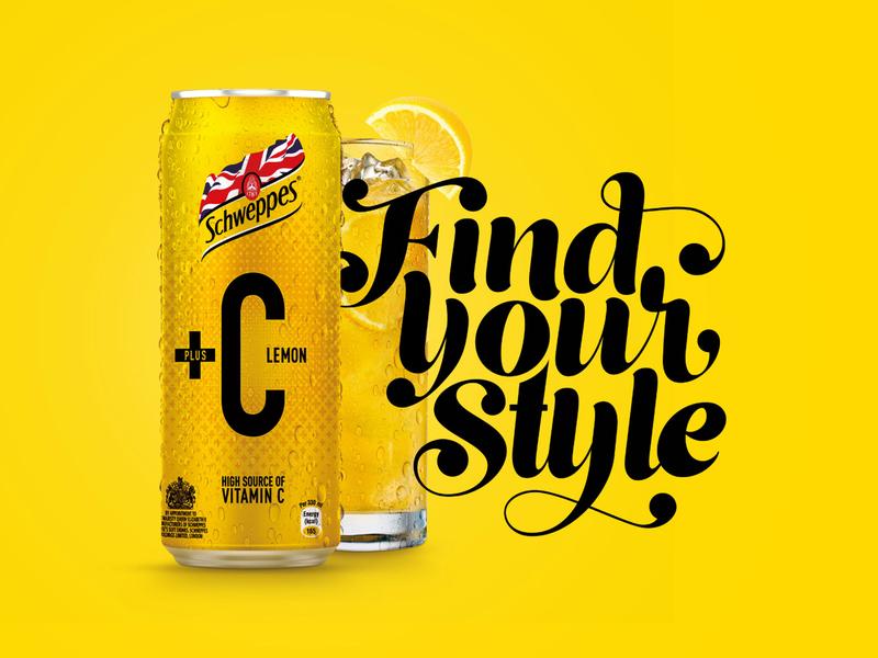 Schweppes+C Typography Design logo graphic design typography
