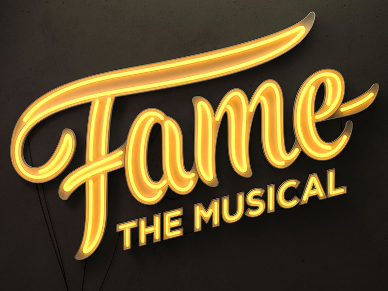 Fame Musical Logo & 3D logo branding graphic design 3d art typography