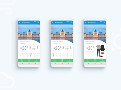 Mobile app. Android. Weather forecast