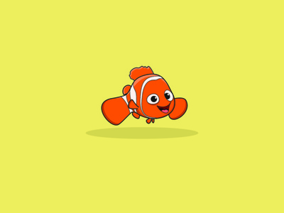 clownfish illustrator animation vector minimal illustration typography logo logo design branding icon