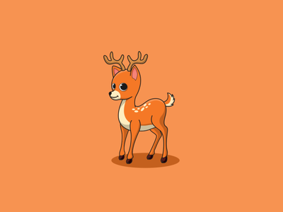 deer animation minimal illustrator illustration typography logotype logo design branding icon