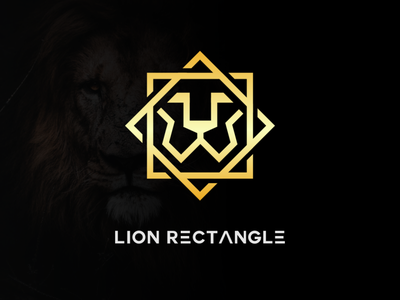 lion rectangle logo illustrator vector minimal illustration logotype design logo logo design branding icon