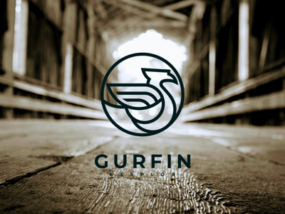 gurpin logo illustrator illustration vector minimal logotype design logo logo design branding icon
