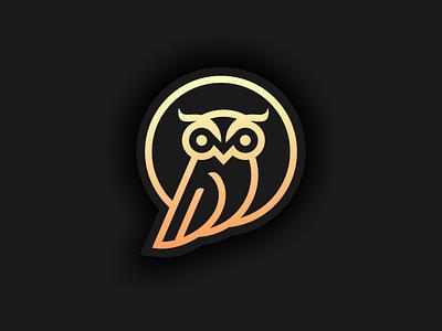 owlmon logo flat vector illustration minimal logotype design logo logo design branding icon