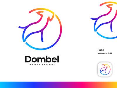 dombel logo minimal typography animation illustration logotype design logo logo design branding icon