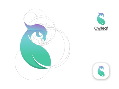 owlleaf logo typography illustrator vector minimal illustration logotype design logo logo design branding icon