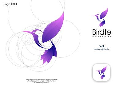 Birdte Logo ux vector ui illustration logotype design logo logo design branding icon