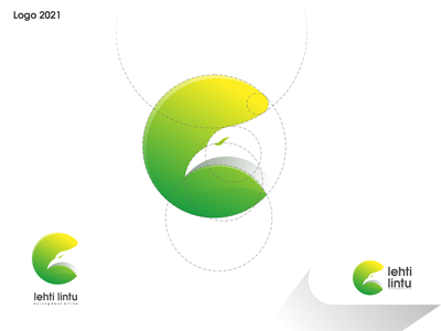 lehti lintu logo ux vector ui illustration logotype design logo logo design branding icon