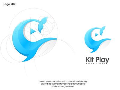kit play logo ux vector ui illustration logotype design logo logo design branding icon