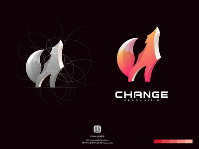 Change logo ux vector ui illustration logotype design logo logo design branding icon