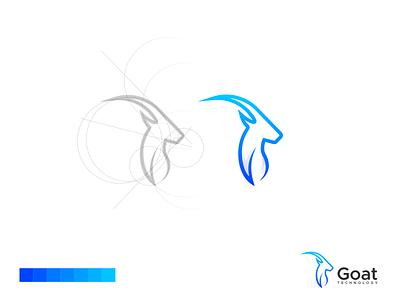Goat Logo logo design goat modern animal vector illustration lettering identity brand app logo design branding