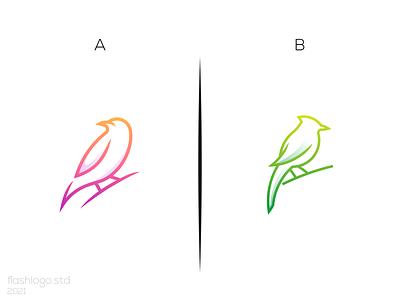 Bird Logo animals bird modern grid clean minimalist minimal simple vector illustration lettering identity brand app logo design branding