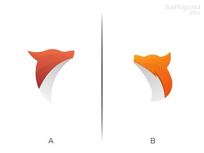 Fox Logo bolt fox animals modern clean minimalist minimal simple vector illustration lettering identity brand app logo design branding