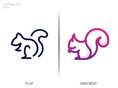 Squirrel Logo grid color squirrel animals modern clean minimal simple vector illustration lettering logo identity brand app design branding