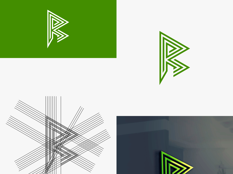 R Lettermark Logo Idea website sketch app art identity type clean illustration graphic design web vector mobile minimal logo lettering flat icon design branding brand