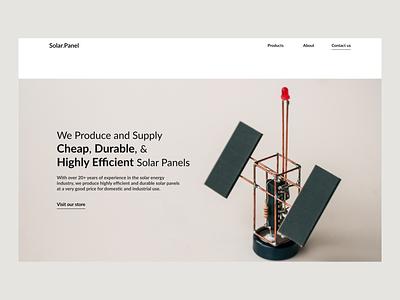 Solar Panel Website flat website ux web minimal ui design webdesign minimalistic hero section