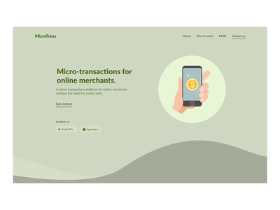 Fintech Website illustration fintech ux website ui webdesign minimalistic hero section design