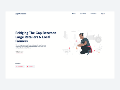 Agriculture Website illustration minimal ux ui webdesign minimalistic hero section design