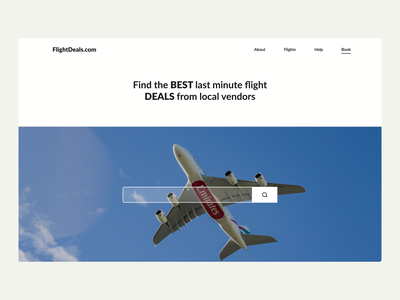 Flight Booking Website minimal black white website ux webdesign ui minimalistic hero section design