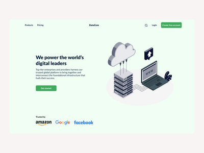 SaaS Website illustration website ux ui webdesign minimalistic hero section design