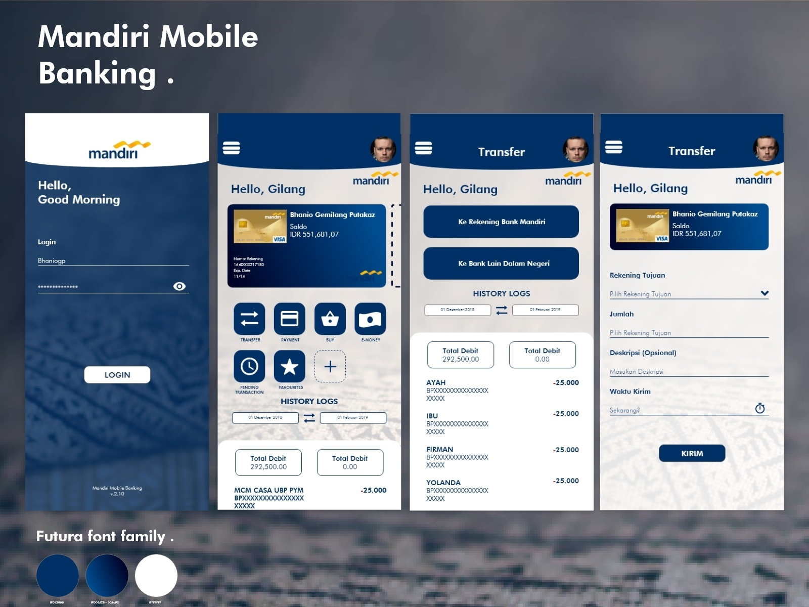 Mandiri Mobile Banking Redesign Daily Ui By Bhanio Gemilang On Dribbble