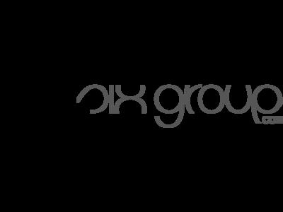 six groups logo, black and white