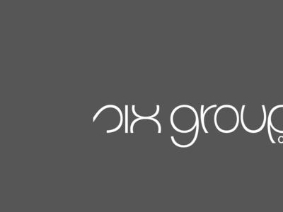 six groups logo, black and white, negative