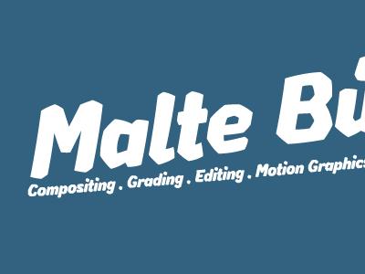 Malte Bünz logo, negative