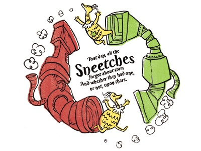 The Sneetches sneetches dr. seuss fanart tribute ink illustration storybook
