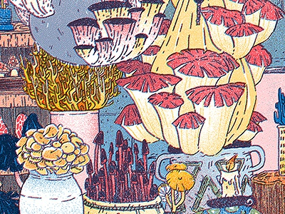 Mushroom Farm II witch nature fungi mushrooms mushroom illustration