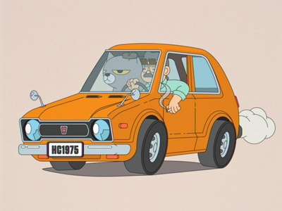 Civic '75 bloodbros japan vector retro adobe illustration illustrator car civic honda