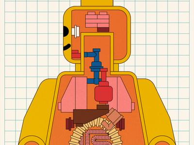 Anatomy System minifigure vector adobe illustrator illustration